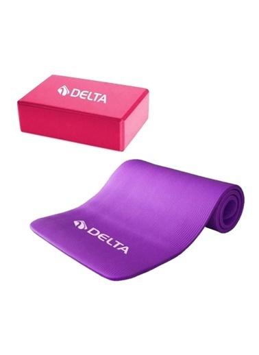 Delta Delta 15 Mm Mat Pilates Minderi Ve Yoga Blok Yoga Köpügü Renkli